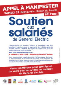 appel manifestation General electric