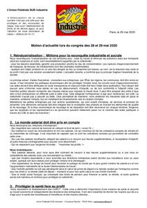 motion actualité congrès USSI 2020