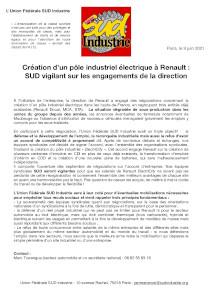 Déclaration UFSI Renault ElectriCity 9 6 21